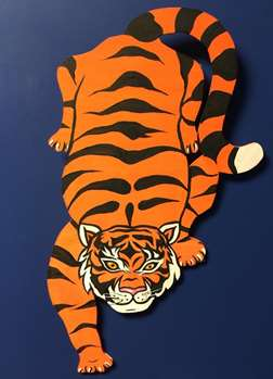 Paint Your Own Wooden Tiger!