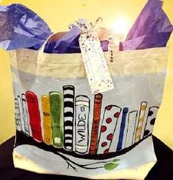 Painted Book Bag