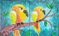 Pair of Parakeets