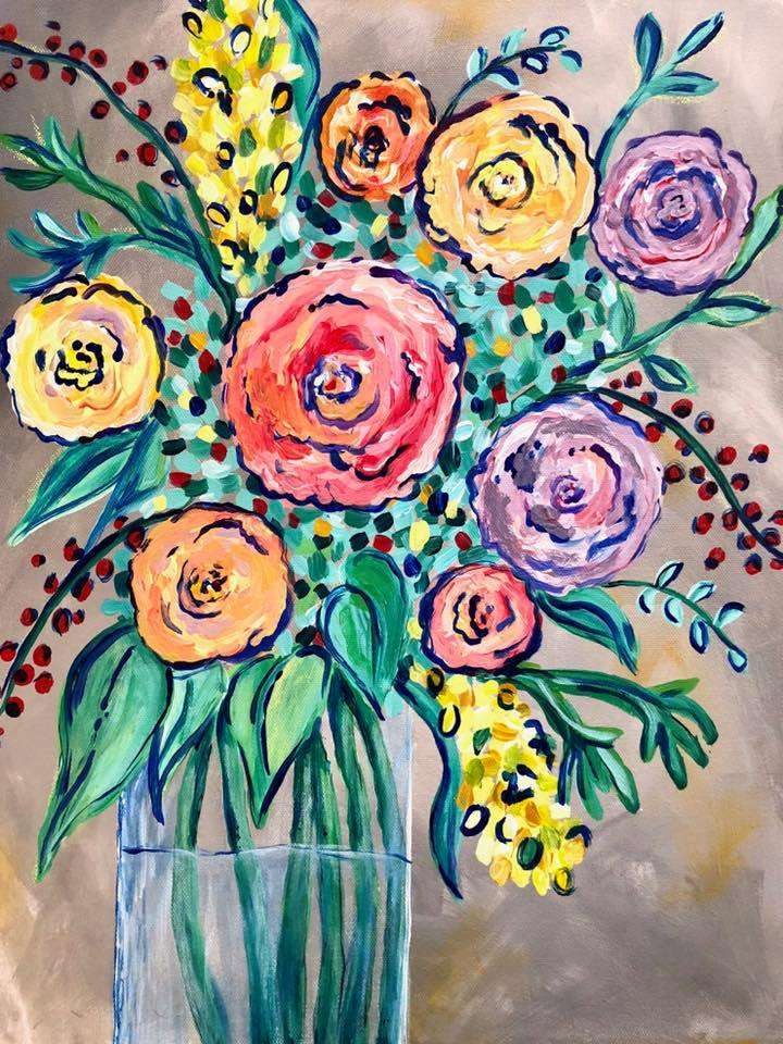 Palette full of Posies - In Studio - Limited Seating