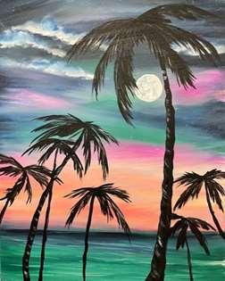 Palm Tree Sunrise