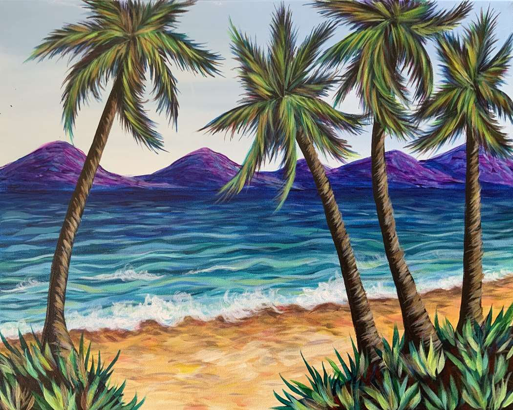 Palm Trees and Ocean Breeze - In Studio Event - Limited Seating Available