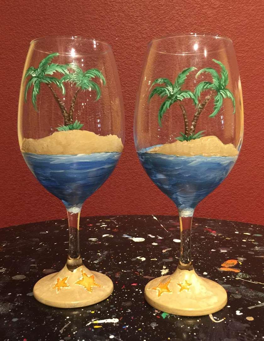 IN-STUDIO EVENT- WINE GLASSES- PARADISE IN A GLASS