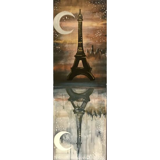 Paris at Night - 10x30 Canvas