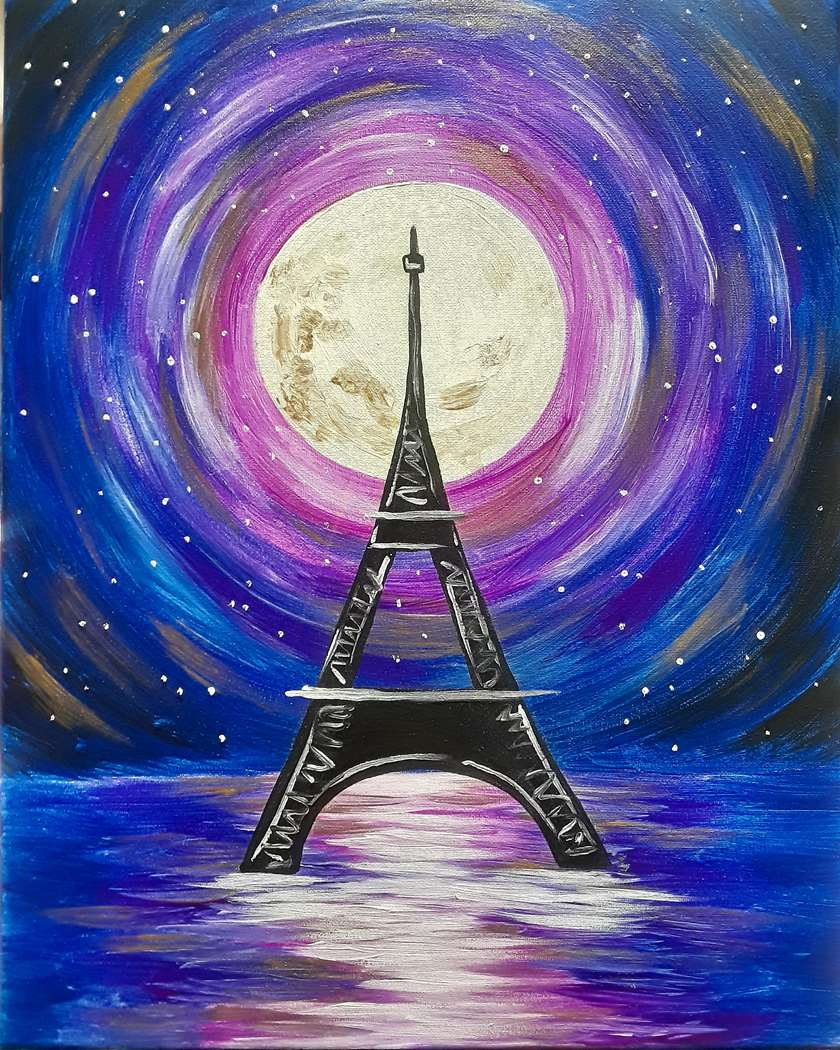 Paris in Moonlight - In Studio Event - Limited Seating Available