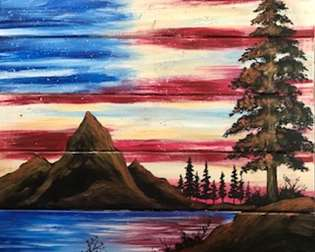 Patriotic Beauty Wood Pallet