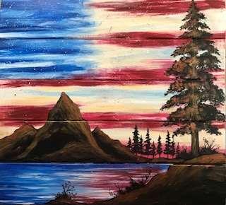 Patriotic Beauty Wood Pallet