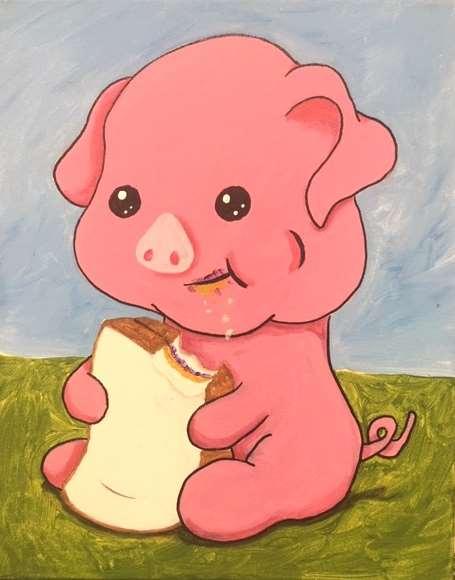 Peanut Butter Piggy Time