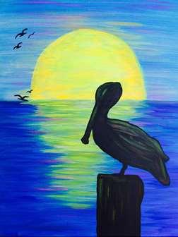 Pelican at Dusk