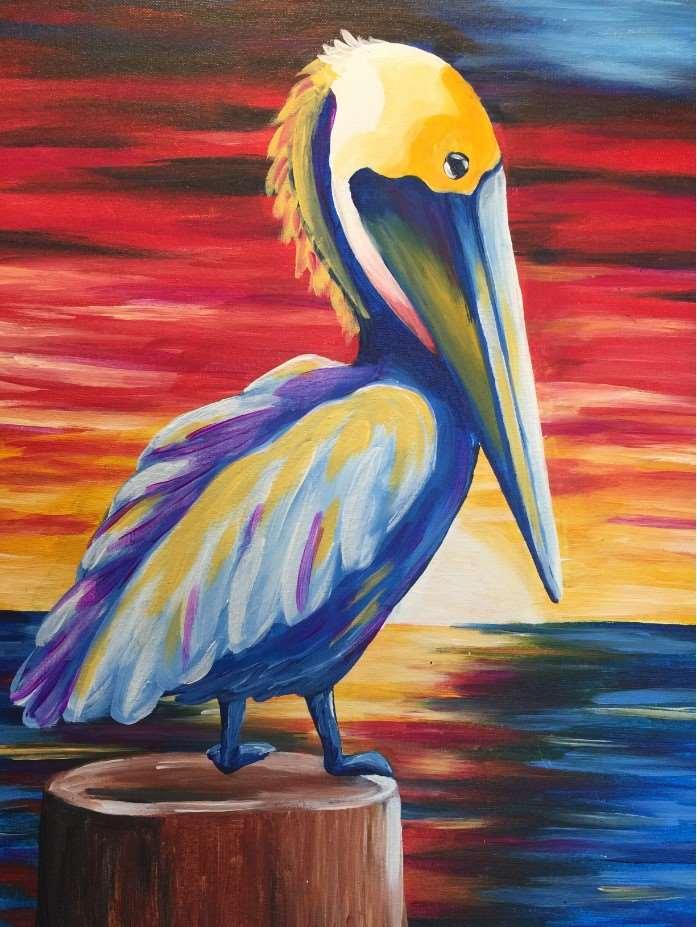 In Studio Event  - Pelican at Sunset