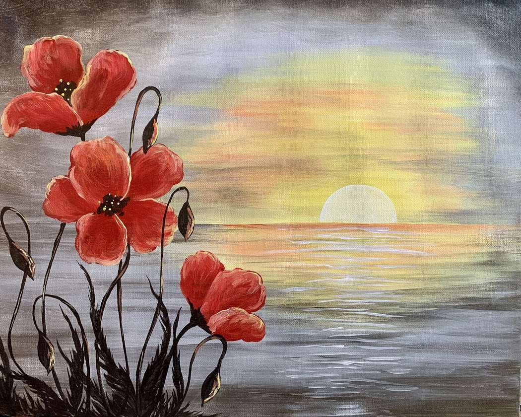 IN-STUDIO EVENT- POPPIES AT SUNSET