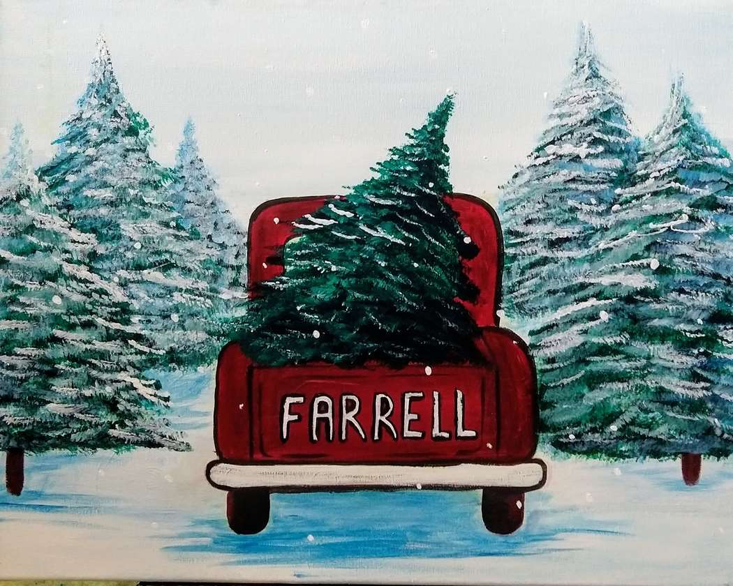Old Red Truck With Christmas Tree In Back.Perfect Tree Thu Dec 05 7pm At Kenwood