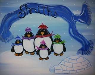Personalized Penguin Family