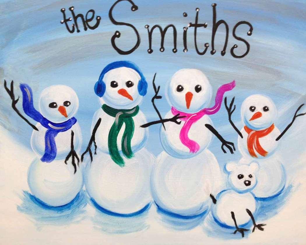In Studio Event - Personalized Snowman Family