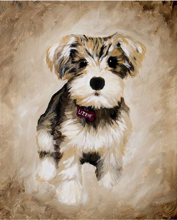 Pet Portrait Art Session: Small or Large Canvas
