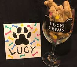 Pet Treat Glass and Tile