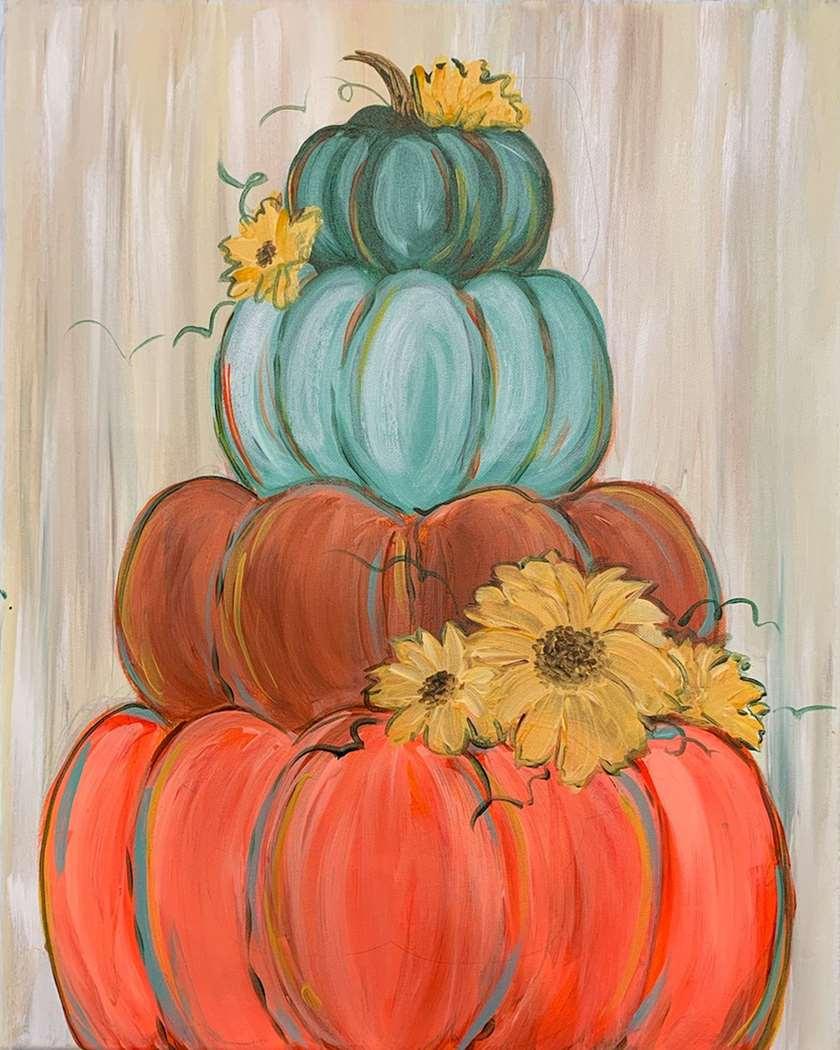Pile of Fall Pumpkins