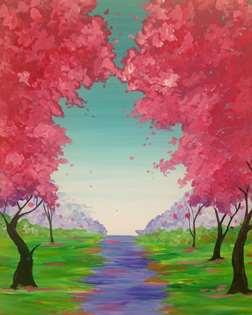 Pink Tree Pathway