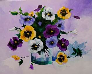Pinot's Picturesque Pansies