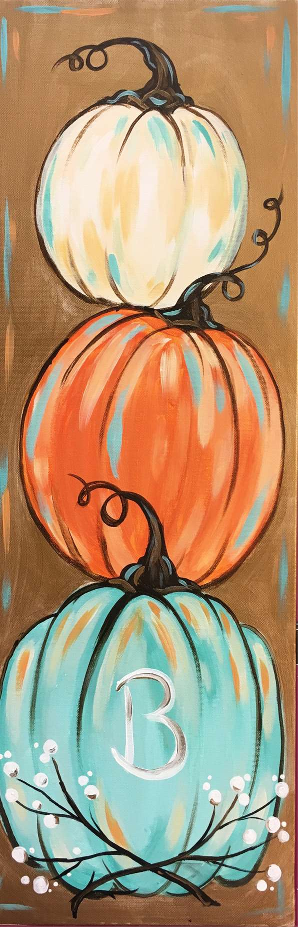 LIVE VIRTUAL CLASS: PLEASANTLY PUMPKIN - WITH ART KIT OR PROVIDE YOUR OWN SUPPLIES