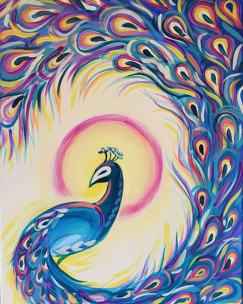 Plumed Peacock