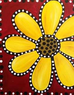 Polka Dotted Daisy