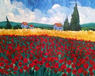 Poppies à la Van Gogh