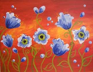 Poppies Azul