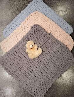 Precious Chunky Knit Mini-Blanket