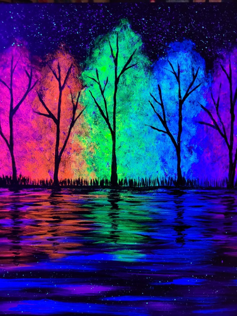 Prismatic Glow under Black Lights