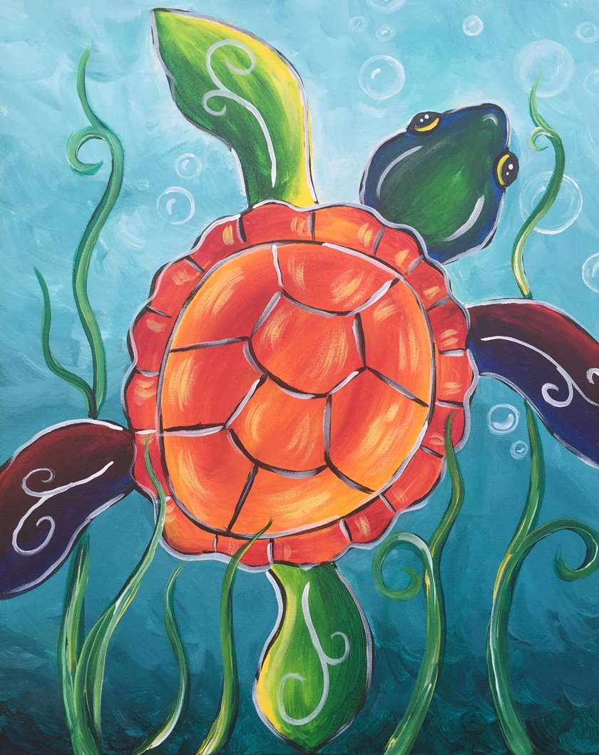 Psychedelic Sea Turtle