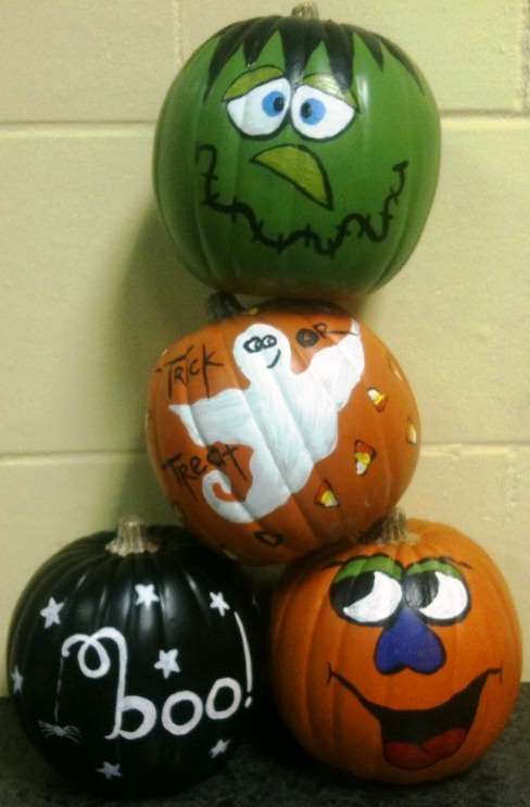 BYOP (Bring your own Pumpkin!) Paint on our Patio!