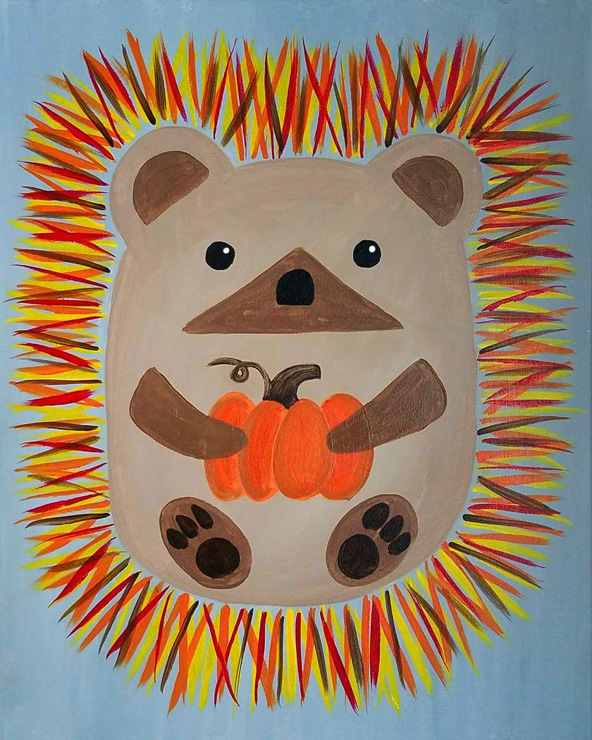 Pumpkin Spiced Hedgehog All Ages - In Studio - Limited Seating
