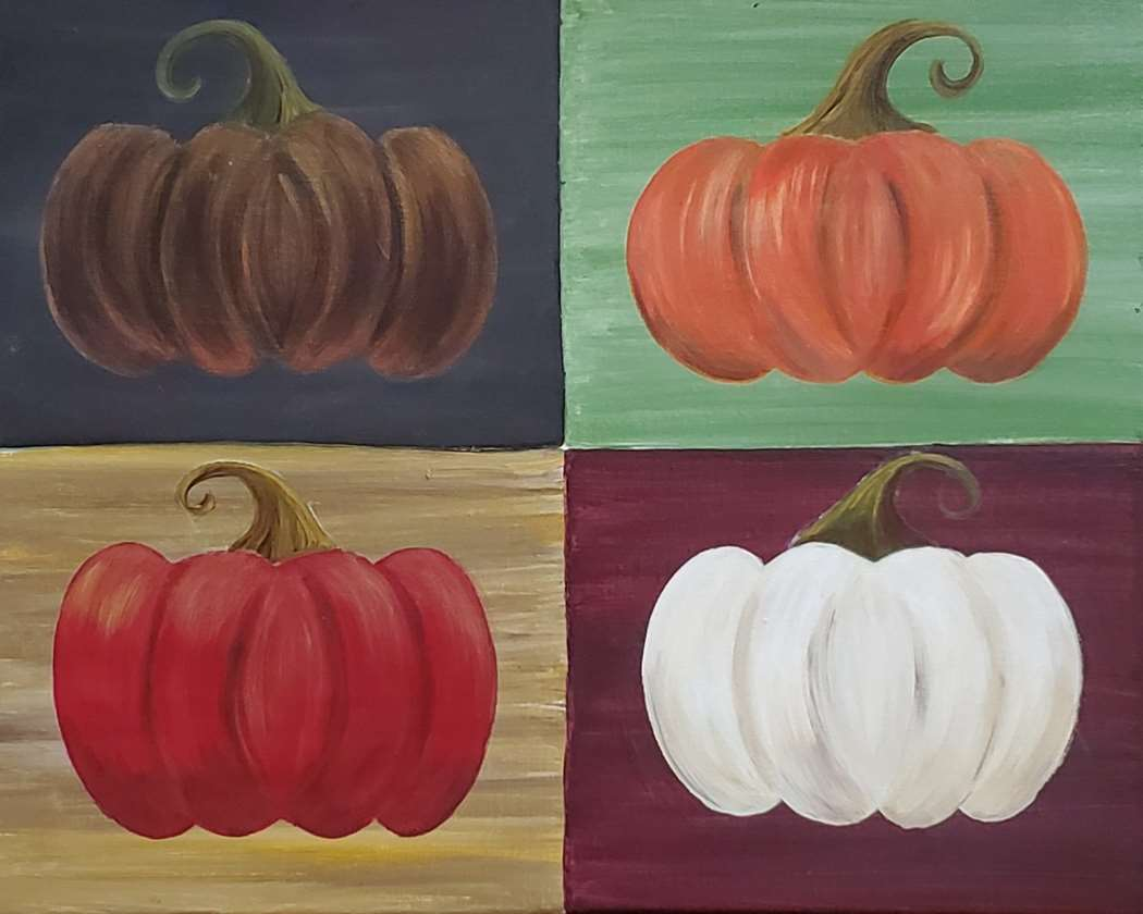 Pumpkins a la Warhol