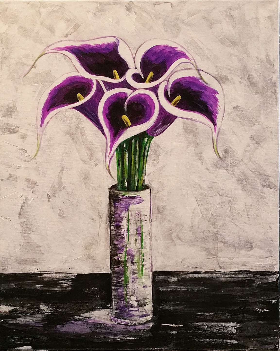 Purple Picasso Calla Lilies Thu Jan 31 7pm At Olmsted Falls