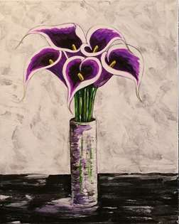 Purple Picasso Calla Lilies