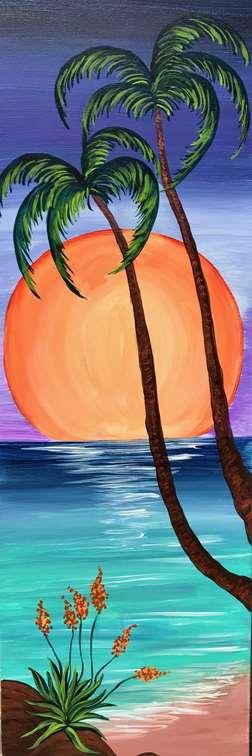 Radiant Tropical Moon