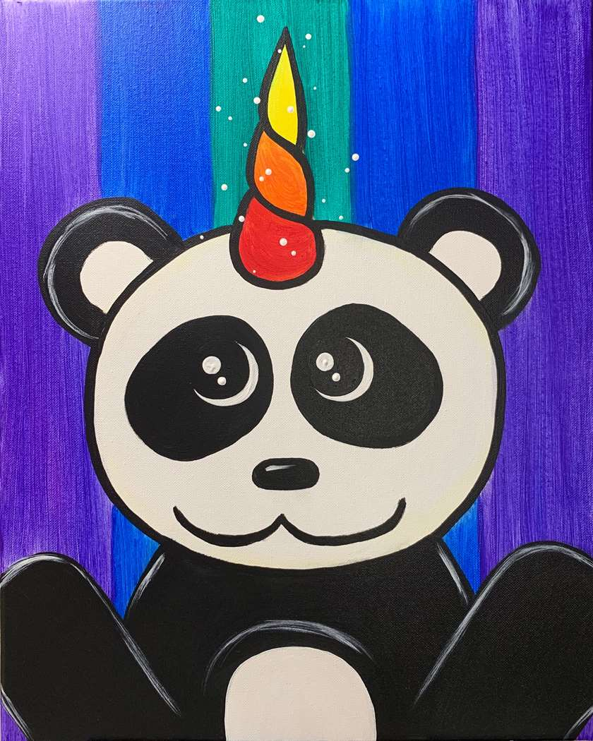 Rainbow Pandacorn- In Studio Event - Limited Seating Available