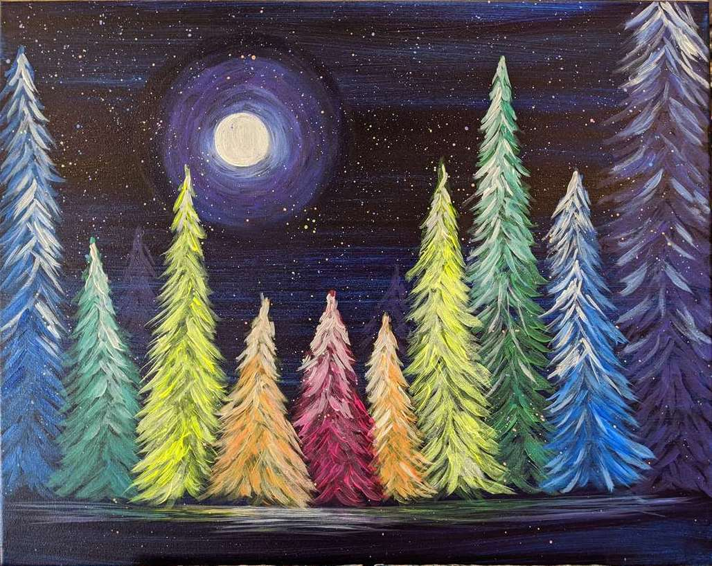 Rainbow Snowfall - In Studio Event - Limited Seating Available