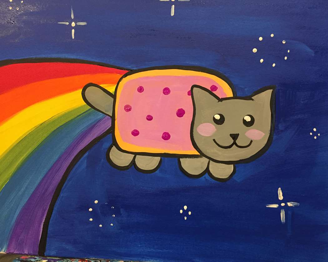Rainbow Space Cat!