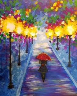 Rainy Stroll in the Park