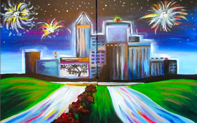 Raleigh Skyline (Date Night)