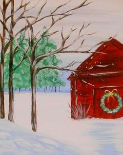 Red Barn in December