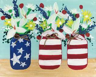 Red, White and Blooms