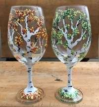 Refreshing Aspens:  Wine Glasses