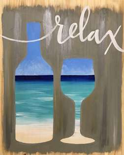 Relax - Beach-y Chic Wood Pallet
