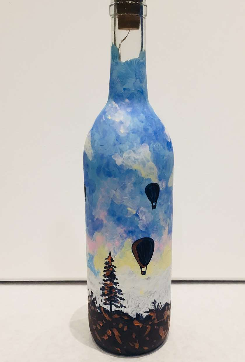 Rise With Me - Wine Bottle