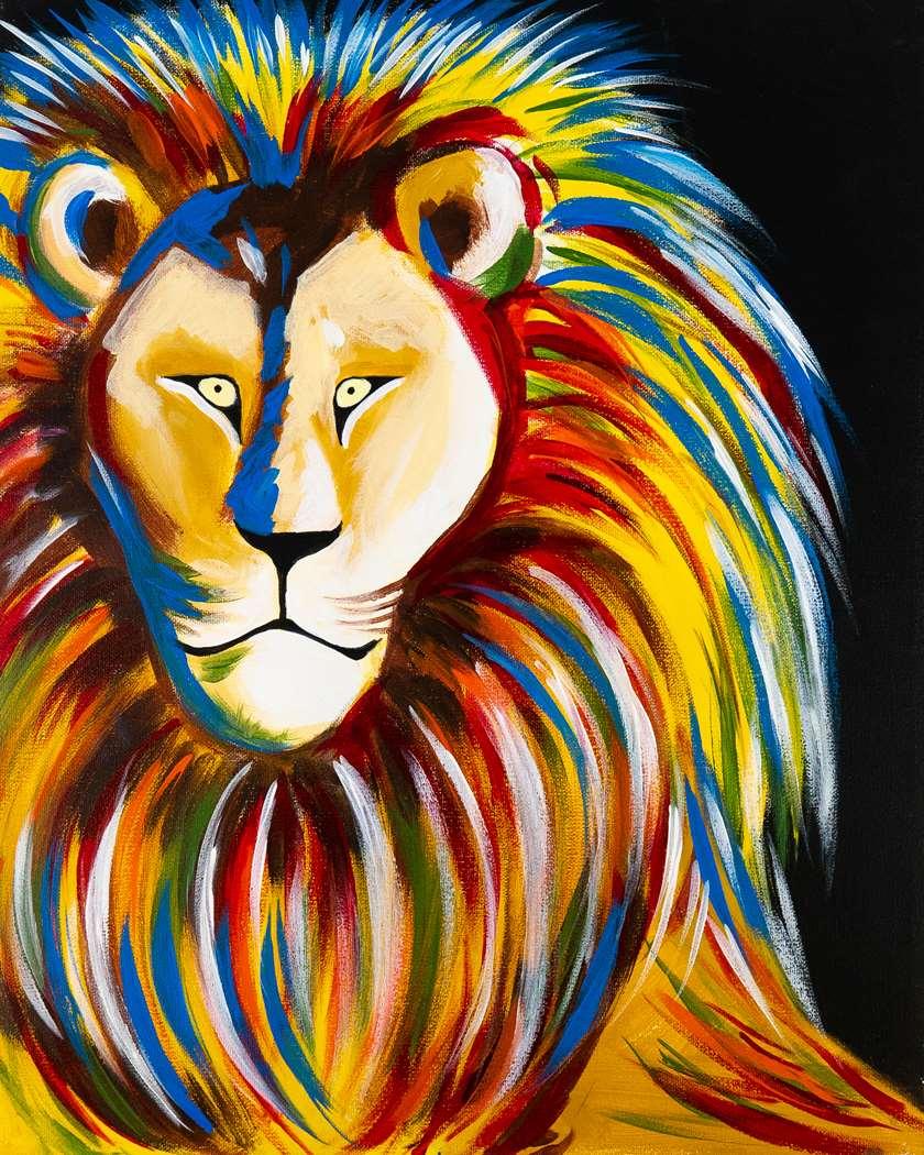 """roar"" black light painting!!"