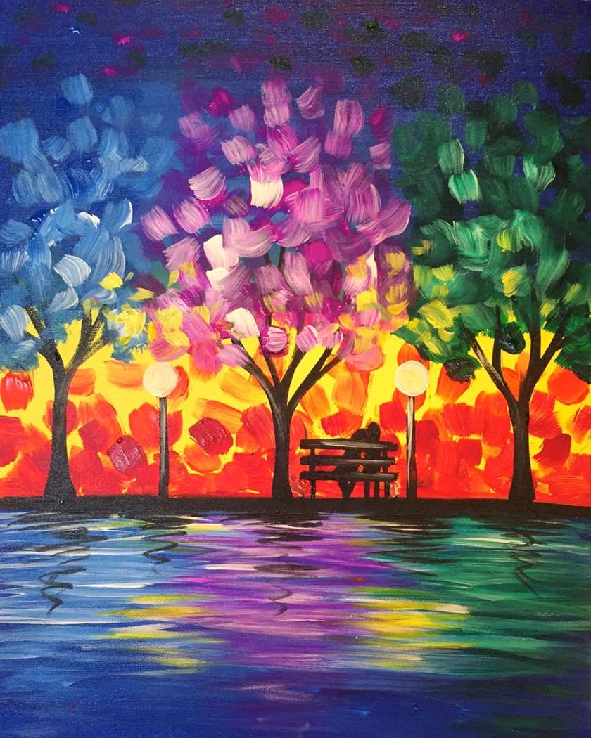 LIVE VIRTUAL EVENT! DATE NIGHT OR PAINT ON ONE CANVAS!