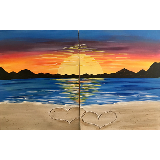 Two canvases become one painting